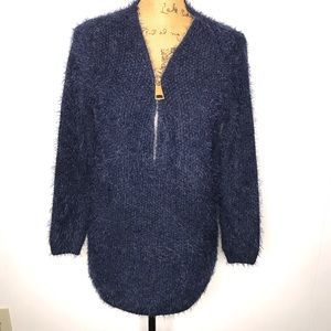 Simply Couture Eyelash Wool Blend Sweater-Size M